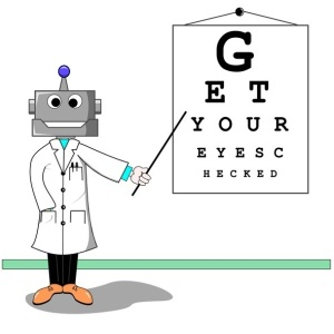 robot eye test